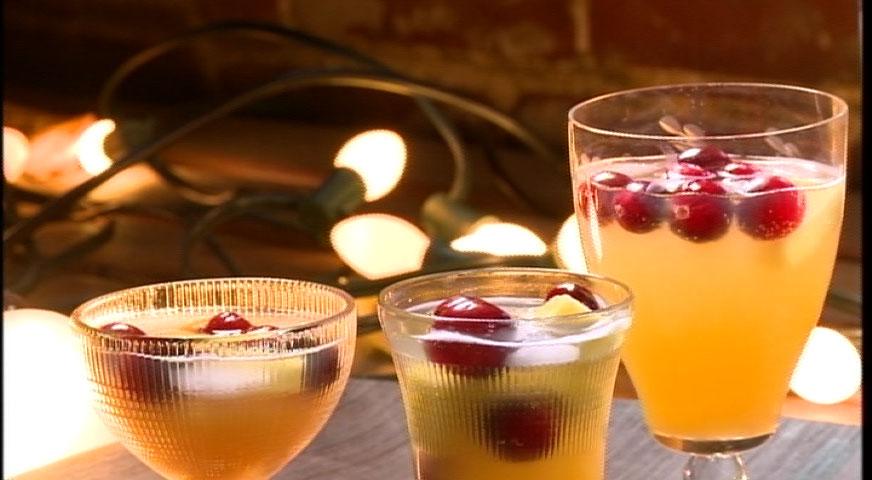 Punch mousseux au jus de fruits