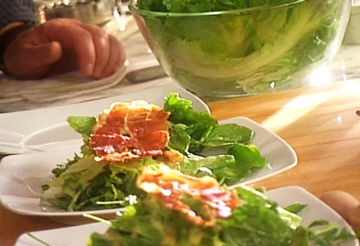 Salade verte vinaigrette au parmesan par jos e di stasio di stasio t l qu bec - Accompagnement salade verte ...